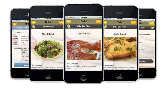 Food ordering for Order food to go